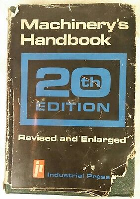 Machinery's Handbook 20th Edition (1976) Industrial Press Inc. Hardcover