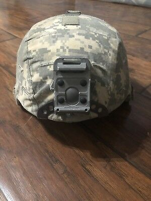 US ARMY MICH ACH ADVANCED COMBAT HELMET With ACU Cover Size M Pre-Owned