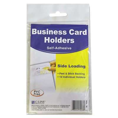 C-Line® Self-Adhesive Business Card Holders, Side Load, 3 1/2 x 2 038944702384