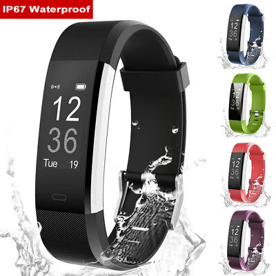 Fitness Smart Watch Activity Tracker Women Men Kids Fits Android iOS Heart Rate