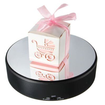 Mirror Top Battery Power Rotating Display Stand Electric Turntable Show Holder