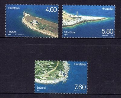 Croatia 2013 Lighthouses Set 3 MNH