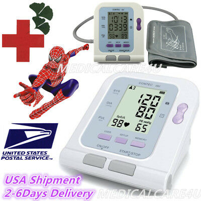 Blood-Pressure-Monitor-BP-Cuff-Upper-Arm-LCD-Machine-Pulse-Heart-Rate-Checker
