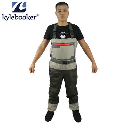 45e0688a8a8 Fly Fishing Stockingfoot Chest Waders Affordable Breathable Waterproof Wader