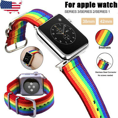 For Apple Watch Replacement Band 42mm Woven Nylon Bracelet For iWatch Series 3 2