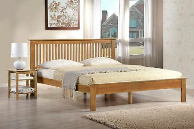 """Windsor Oak Coloured Finished Low Foot End Bed. Sizes 3ft, 4ft, 4ft 6"""" and 5ft"""