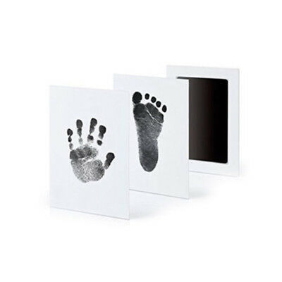 1 ink pad + 2 papers Newborn Baby Handprint Footprint  Touch Ink Pad set new