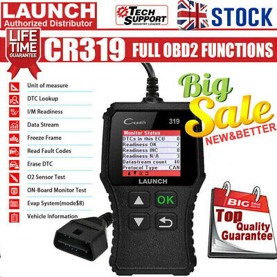 LAUNCH Car Fault Code Reader Engine Diagnostic Scanner Reset Tool OBD2 CAN EOBD