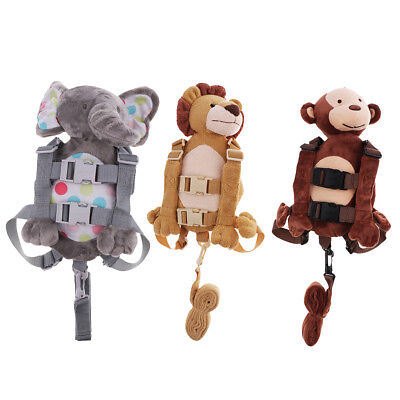 Safety Anti-lost Baby Kids Toddler Harness Backpack Strap Plush Bag Walking