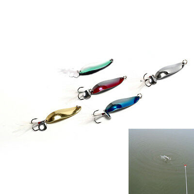1pcs metal 9g sequins with feather fishing lures spoon lure hard baits bass pike