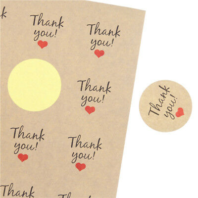 Stickers - Kraft Thank You  - Set of 24