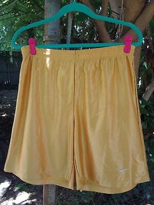 "Unique Gold Unisex Nike Basketball Shorts Sz. 16"" Laying Flat Boys Xl(18-20)"