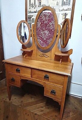Edwardian Dressing table with Oval mirrors fully adjustable 4 drawers 2 shelves