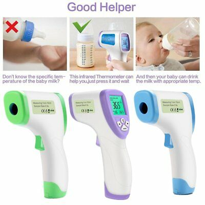 Non-Contact Children Baby Adult Forehead Digital Thermometer LCD Display BU
