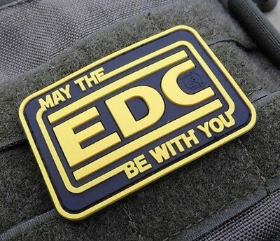 Ready to patch 3D Rubberpatch May the EDC be with you  m. Klettrücks.