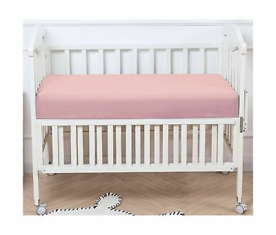 "PHF Crib Fitted Sheets 100% Cotton Deep Pocket 52""X28""X8"" Pack of 2 Light Pink"
