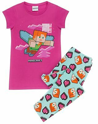 Minecraft Alex Girl's Pyjamas UK Sizes 6 to 14 Years