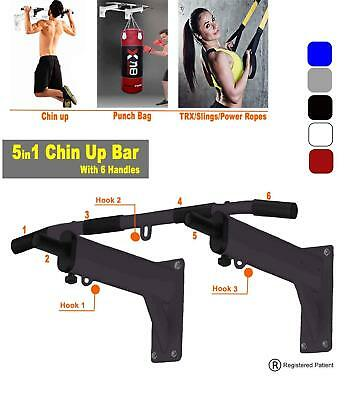 Wall Mounted Iron Chin Up Push Up Pull Up Sport Bar Ideal For Cross Fit Exercise