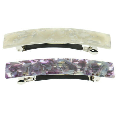 2x Leopard Hair Clip France Hair Ponytail Holders Rectangle French Barrette