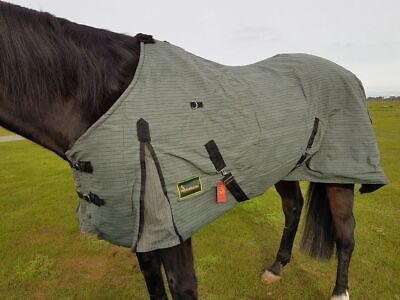 """RUMANI Ripstop Waterproof Breathable PC Canvas UNLINED Horse RUG 4'6"""" to 7'0"""""""