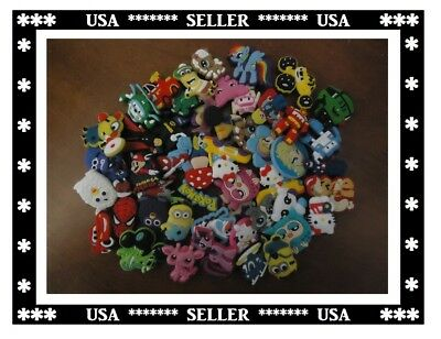 Cartoon Shoe Charms Decoration 4 Croc & Jibbitz Silicone 100pcs Different Crocs