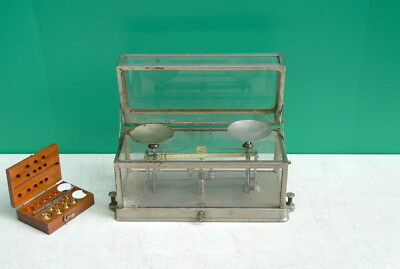 1890s TORSION BALANCE CO 269 Pharmacy Drug Store Apothecary Scale w weights