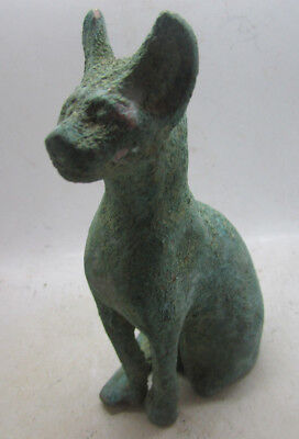 Extremely Rare Ancient Egyptian Bronze Statuette Of A Bastet