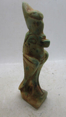 Beautiful Ancient Egyptian Faience Statuette Of Horus Rare