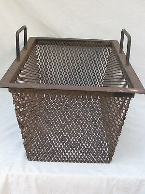 Vintage Iron and Open Metal Work Industrial Basket Large Size