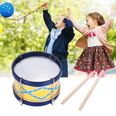 Colorful Snare Drum Toy Percussion Instrument with Drum Sticks Strap H0O0