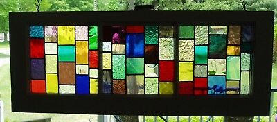 Stained Glass in old window frame