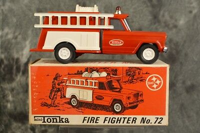 Vintage 1960s Mini Tonka Fire Fighter No.1072 Complete w/ Box SHIPS FREE NICE NM