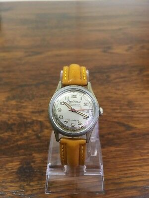 vintage optima mens watch, 1940s-1950s?, nice looking watch, working