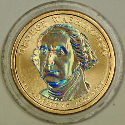 2007-D George Washington Enhanced Presidential Dollar Brilliant Coin