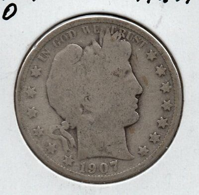 1907 O Barber Half Dollar Nice collector grade silver piece