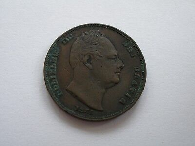 1831 William Iv Farthing - Vf - Uk Post Free