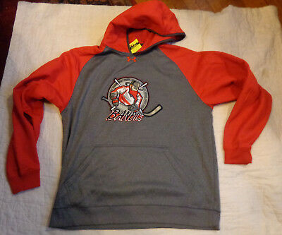 Nwot Under Armour Storm Cold Gear Hockey,nj Bandits,xl Men,hood Sweater,sewn,exc