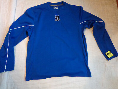 Nwot Under Armour Cold Gear Fleece,mlb Detroit Tigers L/s Shirt,lg Men,sewn,exce