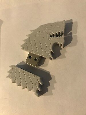Game of Thrones Official House Stark Sigil Direwolf USB Flash Drive HBO 4GB Wolf