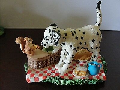"""SPOT GOES ON A PICNIC"" Hamilton Collection Seeing Spots,Dalmatians E"