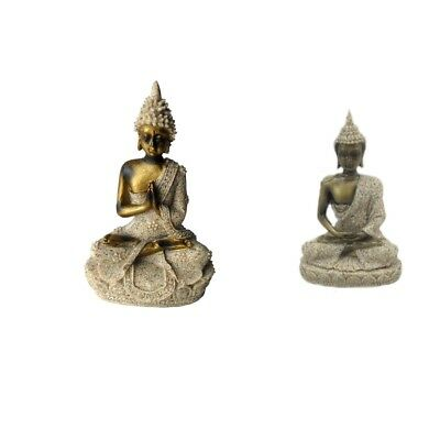 Buddha Statue Sandstone Sculpture Sacred Worship Sandstone Office Decoration