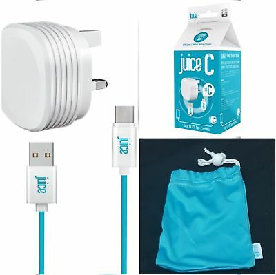 Juice USB Type-C (Samsung) Charger UK Mains Wall Adapter  ,1.5m Cable Brand New