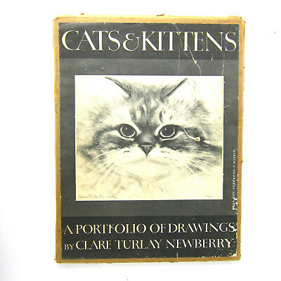 Vtg Cats & Kittens A Portfolio of Drawings Care Turlay Newberry 1956 11 Prints