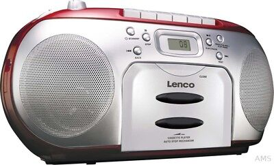 Lenco Radio/CD/Kassetten-Player SCD-420 RED