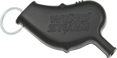 "NIB All Weather Safety Whistle Wind Storm Safety Whistle Black casing. 2 5/8"" ov"