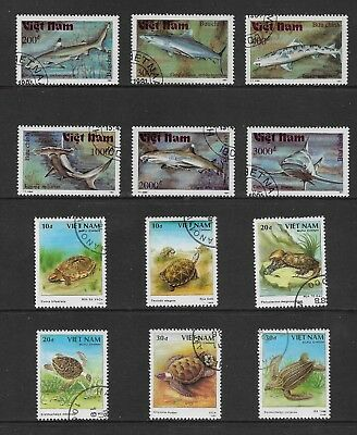 VIETNAM mixed collection No.29, Sharks, Turtles, CTO