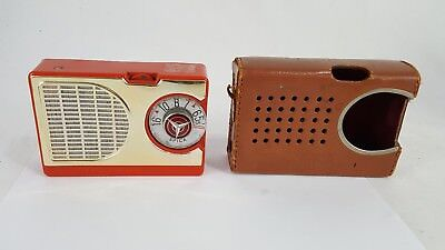 "Vintage  Spica St-600  6 Transistor Radio In Rare ""red""  Untested"