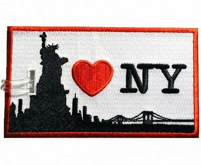 I LOVE NEW YORK Embroidered Luggage Tag (NEVER BREAKS!)