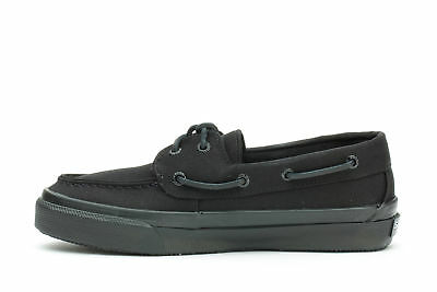 6f3fa2b853cd39 SPERRY TOP SIDER Men s Sneakers Bahama 2-Eye Black Canvas -  50.00 ...