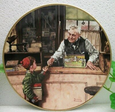Norman Rockwell Coming of Age Collection BACK TO SCHOOL Collector Plate  #1